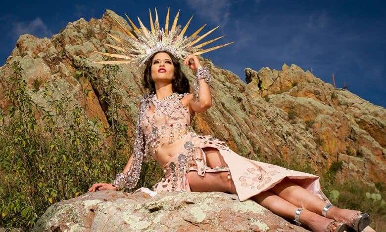 Photo of Miss Mexico 2020 in legendary atmosphere