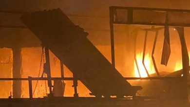 """صورة """"داعش"""" يتبنى عملية قصف مصفاة النفط العراقية"""