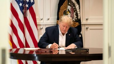 "Photo of Trump Signs New Executive Order to ""Protect America"""