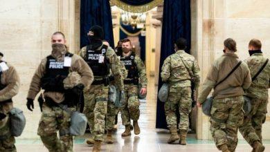 صورة إصابة عشرات الجنود بكورونا بسبب أحداث الكونغرس