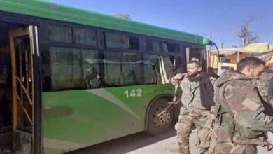 صورة هجوم مسلح يستهدف حافلة للجيش السوري