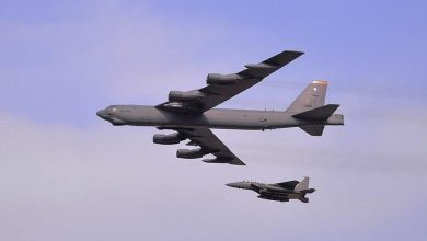 "Photo of Media: Two US ""B-52"" bombers are crossing Israeli airspace on their way to the Gulf"
