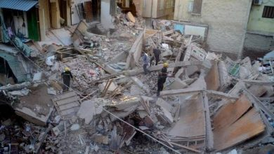 Photo of Victims in the collapse of an apartment building in northern Egypt