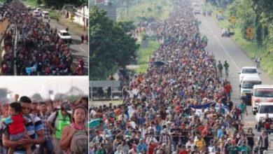صورة هجرة جماعية من هندوراس إلى الولايات المتحدة