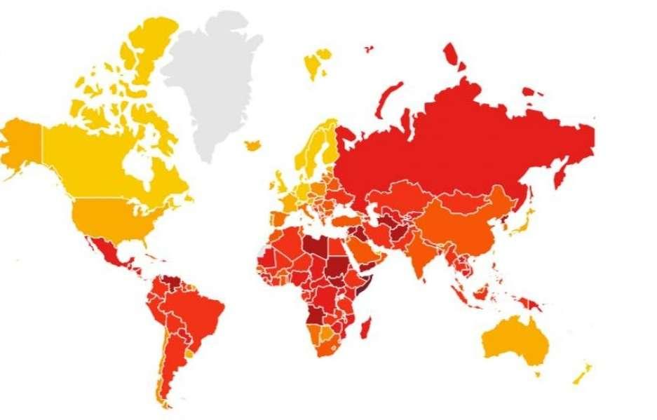قائمة الدول الأقل فسادا في العالم, صحيفة عربية في بوسطن-أمريكا-بروفايل نيوز