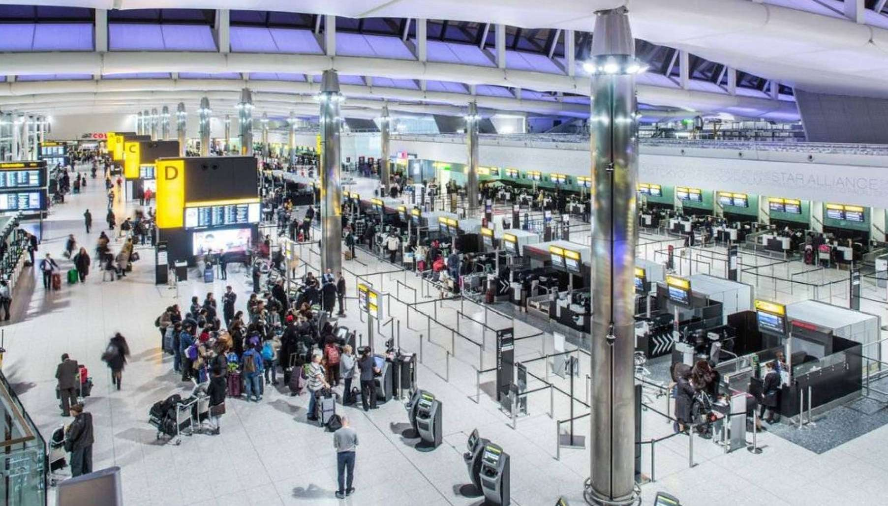 Chaos in a London airport, Arabic newspaper in Boston-USA-Profile News